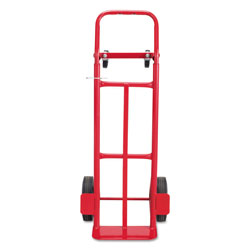 """Safco Convertible Hand Truck, 500 600 Lb Cap, 18""""x16""""x51, Red"""
