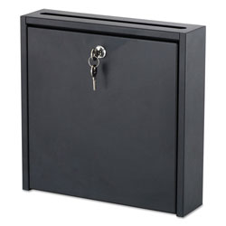 Safco Wall-Mountable Interoffice Mailbox, 12w x 3d x 12h, Black