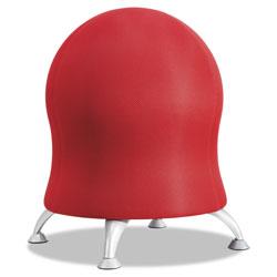 Safco Zenergy Ball Chair, Crimson Seat/Crimson Back, Silver Base