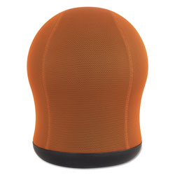 Safco Zenergy Swivel Ball Chair, Orange Seat/Orange Back, Black Base