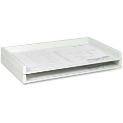 Safco Giant Stack Trays for Sheets to 36 3/8 x 24 1/2, White, 2 per Carton