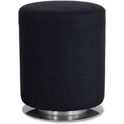 Safco Swivel Keg Seating, 16 1/2 in Diameter x 21 in High, Black
