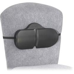 Safco Lumbar Roll Backrest, 13 1/8w x 2 1/2d x 8h, Black