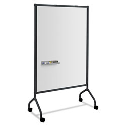 Safco Impromptu Magnetic Whiteboard Collaboration Screen, 42w x 21.5d x 72h, Black/White