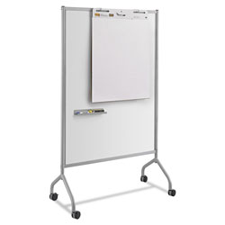 Safco Impromptu Magnetic Whiteboard Collaboration Screen, 42w x 21.5d x 72h, Gray/White
