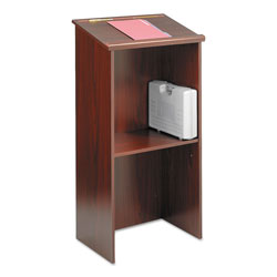 Safco Stand-Up Lectern, 23w x 15.75d x 46h, Mahogany