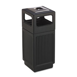 Safco Plastic Smoking Receptacle, 15 Gallon, Black