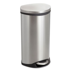 Safco Step-On Medical Receptacle, 7.5 gal, Stainless Steel