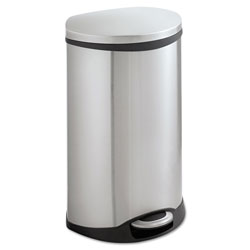 Safco Step-On Medical Receptacle, 12.5 gal, Stainless Steel