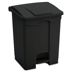 Safco Large Capacity Plastic Step-On Receptacle, 23 gal, Black