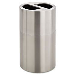 Safco Dual Recycling Receptacle, 30 gal, Stainless Steel
