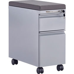 Safco Cushion, F/Steel Mini Pedestal, 23 inX10.84 inX1.5 in , Charcoal