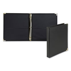 Samsill Classic Collection Ring Binder, 3 Rings, 1 in Capacity, 11 x 8.5, Black
