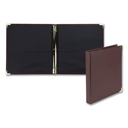 Samsill Classic Collection Ring Binder, 3 Rings, 1 in Capacity, 11 x 8.5, Burgundy