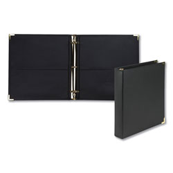 Samsill Classic Collection Ring Binder, 3 Rings, 1.5 in Capacity, 11 x 8.5, Black