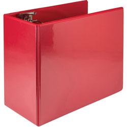 Samsill Binder, Locking, 6 in D-Ring, 13-3/4 inWx6-3/4 inLx11-3/5 inH, Red