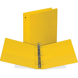 Samsill Round Ring View Binder, 1 in, Yellow