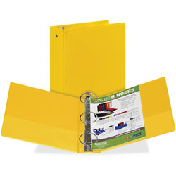 Samsill Round Ring View Binder, 3 in, Yellow