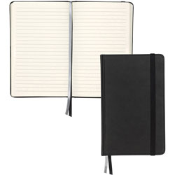 Samsill Writing Journal Black 5.25x8.5 120 Sht Bulk Ruled