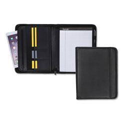 Samsill Professional Zippered Pad Holder, Pockets/Slots, Writing Pad, Black