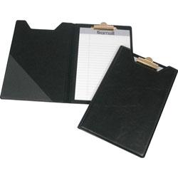 """Samsill Pad Holder, w/ Clip, Inside Pocket, 8-1/2""""x5-1/2"""", Black"""