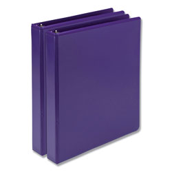 Samsill Earth's Choice Biobased Durable Fashion View Binder, 3 Rings, 1 in Capacity, 11 x 8.5, Purple, 2/Pack
