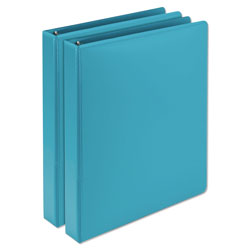 Samsill Earth's Choice Biobased Durable Fashion View Binder, 3 Rings, 1 in Capacity, 11 x 8.5, Turquoise, 2/Pack