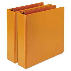 Samsill Earth's Choice Biobased Durable Fashion View Binder, 3 Rings, 2 in Capacity, 11 x 8.5, Coral, 2/Pack