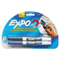 Expo® Magnetic Clip Eraser, Fine Bullet Tip, Assorted