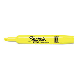 Sharpie® Tank Style Highlighters, Chisel Tip, Fluorescent Yellow, 36/Box