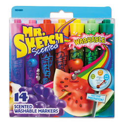 Sanford Washable Markers, Broad Chisel Tip, Assorted Colors, 14/Set
