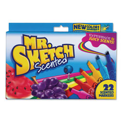 Mr. Sketch® Scented Watercolor Marker, Broad Chisel Tip, Assorted Colors, 22/Pack