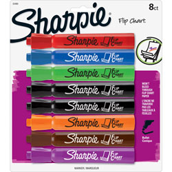 Sharpie® Flip Chart Marker Set with Bullet Point, Assorted