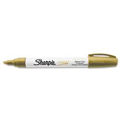 Sharpie® Permanent Paint Marker, Medium Bullet Tip, Gold