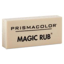 Prismacolor MAGIC RUB Eraser, Rectangular, Medium, Off White, Vinyl, Dozen