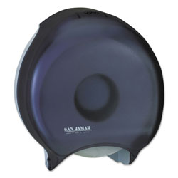 San Jamar Single 12 in JBT Bath Tissue Dispenser, 1 Roll, 12 9/10x5 5/8x14 7/8, Black Pearl