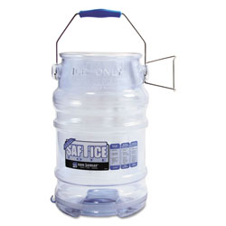 San Jamar Saf-T-Ice Tote, 6gal Capacity, Transparent Blue