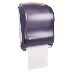 San Jamar Electronic Touchless Roll Towel Dispenser, 11 3/4 x 9 x 15 1/2, Black