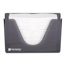 San Jamar Countertop Folded Towel Dispenser, Plastic, Black Pearl, 11 x 4 3/8 x 7