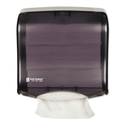 San Jamar Ultrafold Fusion C-Fold & Multifold Towel Dispenser, 11 1/2x5 1/2x11 1/2, Black