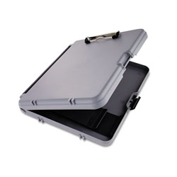 Saunders WorkMate Storage Clipboard, 1/2 in Capacity, Holds 8 1/2w x 12h, Charcoal/Gray
