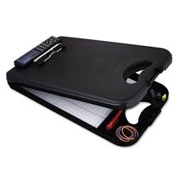 Saunders DeskMate II w/Calculator, 1/2 in Clip Cap, 8 1/2 x 12 Sheets, Black