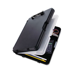 Saunders WorkMate II Storage Clipboard, 1/2 in Capacity, Holds 8-1/2w x 12h, Black/Charcoal