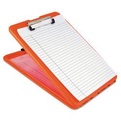 Saunders SlimMate Storage Clipboard, 1/2 in Clip Capacity, 8 1/2 x 11 Sheets, Hi-Vis Orange