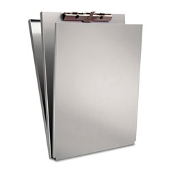 Saunders A-Holder Aluminum Form Holder, 1/2 in Clip Capacity, Holds 8.5 x 12 Sheets, Silver