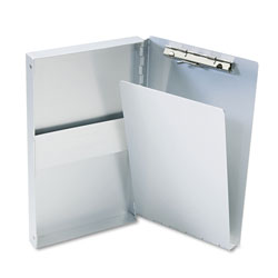 Saunders Snapak Aluminum Side-Open Forms Folder, 3/8 in Clip Cap, 5.66 x 9.5 Sheets, Silver