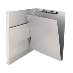 Saunders Snapak Aluminum Side-Open Forms Folder, 1/2 in Clip, 8 1/2 x 12 Sheets, Silver
