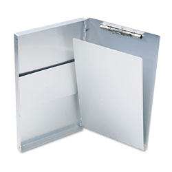 Saunders Snapak Aluminum Side-Open Forms Folder, 1/2 in Clip Cap, 8 1/2 x 14 Sheets, Silver