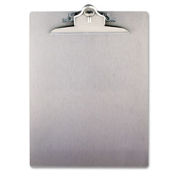 Saunders Aluminum Clipboard w/High-Capacity Clip, 1 in Clip Cap, 8 1/2 x 12 Sheets, Silver
