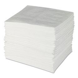 Spc ENV MAXX Enhanced Oil Sorbent Pads, .24gal, 15w x 19l, White, 100/Bundle
